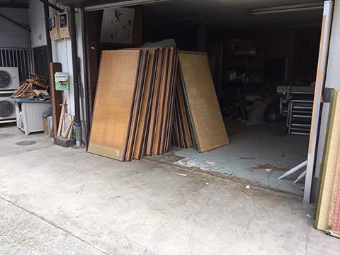 きれいに片付いた倉庫