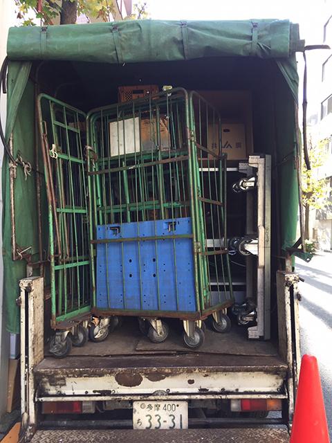 2トントラックにギリギリで収まりました