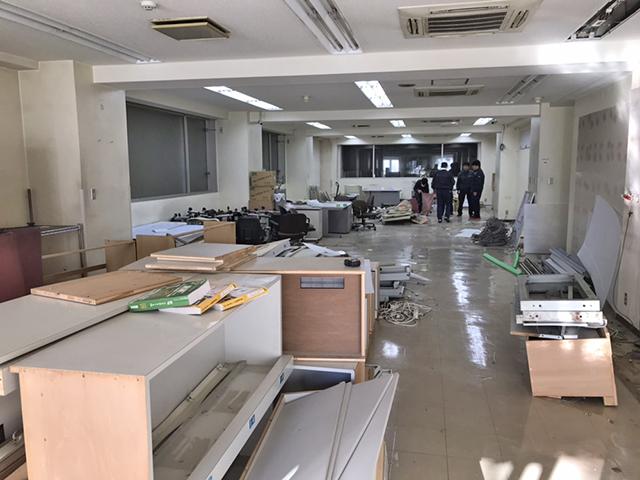 内装解体後のオフィス