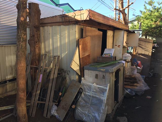解体前の自宅にあった物置